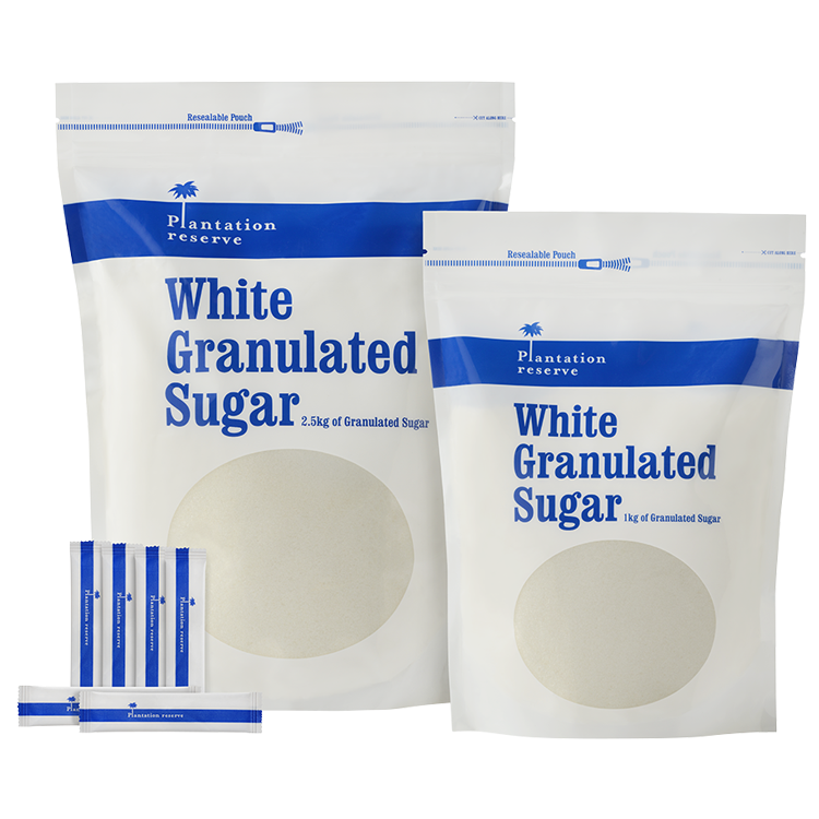 white sugar packs